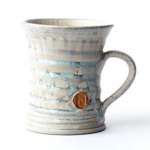 hand-thrown ceramic coffee mug